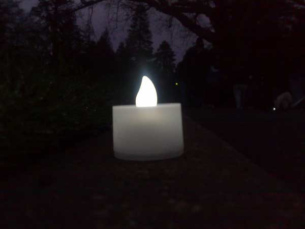Ballarat Suicide Prevention Day walk Under the floorboards art project Aldona Kmiec candle