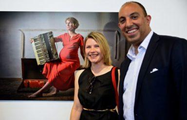 Aldona Kmiec with Mark Guirguis