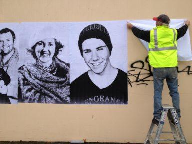 Paste ups Aldona Kmiec Ballarat Murals We R You project