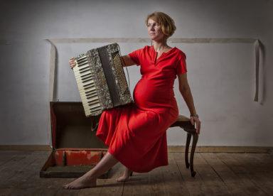 Artist Profile Balancing Act Polish pregnant woman portrait Aldona Kmiec