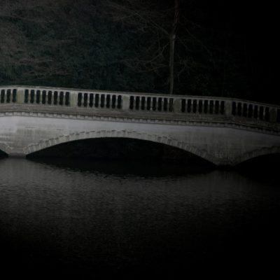 Bridge in Hampstead Heath London Red shoes cinderella fairytale bridge Hamstead Heath London Artist Aldona Kmiec Polish