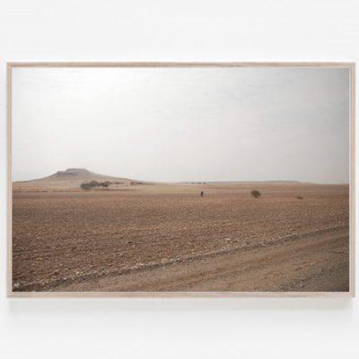 Moroccan Man print desert landscape