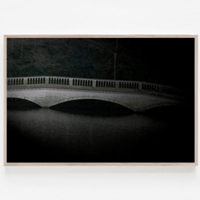 Bridge print Hampstead Heath London Red shoes cinderella fairytale bridge Hamstead Heath Aldona Kmiec