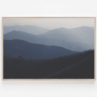 Victorian Alps print australian landscape prints Mount Hotham road