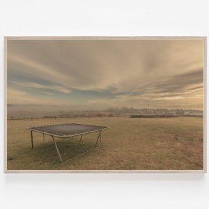 Trampoline print Iconic Australian backyards print Bairnsdale Australia