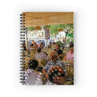 Cafe in Soler Notebook Colour Aldona Kmiec